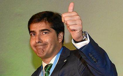 Haro, con gesto positivo ante la victoria sobre Salas.