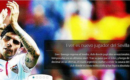Banega ha anunciado en su web que ya es jugador del Sevilla.