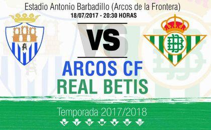 El Real Betis se medirá al Arcos CF el 18 de julio.