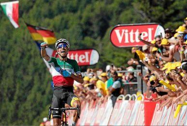 El italiano Fabio Aru se ha alzado con la quinta etapa del Tour.