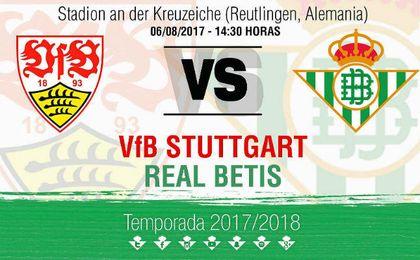 El Betis jugará contra el Stuttgart el próximo 6 de agosto