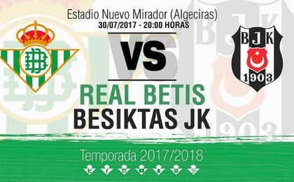 El Betis jugará ante Valladolid y Besiktas el 29 y 30 de julio