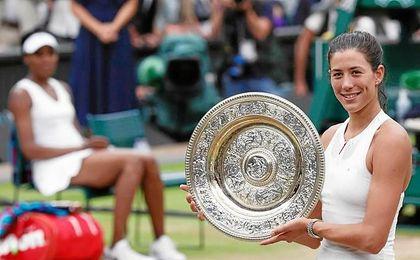 """Venus Williams reconoce que Muguruza jugó """"increíblemente""""."""