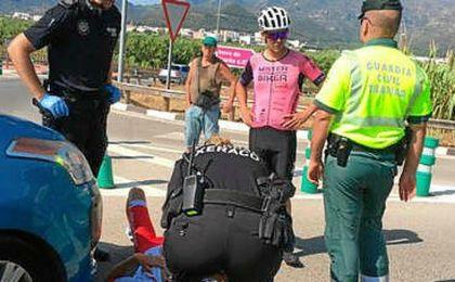 Ángel Vicioso y el triatleta Jesús Gomar, atropellados por un coche en Xeraco