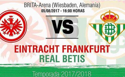 Nuevo amistoso para el Betis ante el Eintracht de Frankfurt