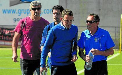 José Luis Durán ´Selu´ (izquierda) volverá a comandar el Alcalá como máximo responsable técnico.