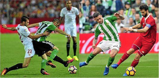Los derbis Sevilla-Betis y Betis-Sevilla, jornada 18 y 37 de Liga.