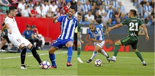 Sevilla-Alavés y Leganés-Betis, en la jornada 38.