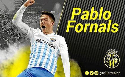 Así ha anunciado el Villarreal la llegada de Fornals.