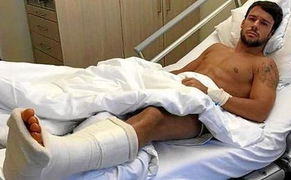 Bernat, operado con éxito de una lesión de tobillo