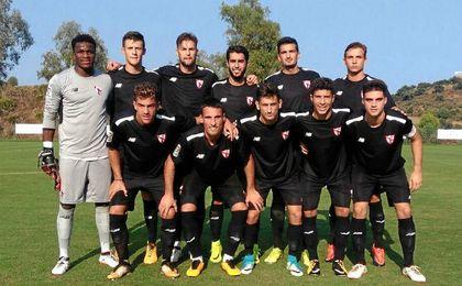 Once inicial con el que salió el Sevilla Atlético ante el Almería.
