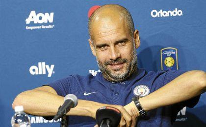 Guardiola, satisfecho con el resultado logrado por su equipo ante el campeón de Europa.