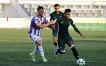 Nahuel fue de los más destacados ante el Valladolid.