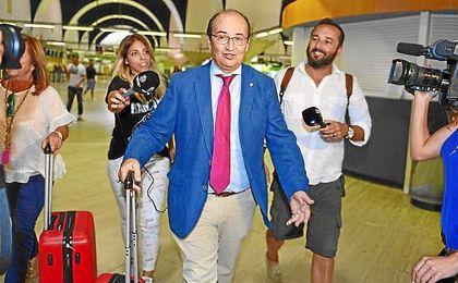 José Castro, antes de viajar con el Sevilla esta pretemporada.