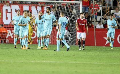 Alcácer hizo el gol del empate culé.