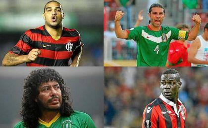 Higuita, Balotelli o Adriano son algunos de los futbolistas afectados por el narcotráfico.