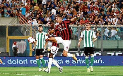 El gol de André Silva en la primera parte fue anulado por fuera de juego.