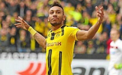 Aubameyang guía al Dortmund sin Dembelé; Lewandowski lidera al Bayern