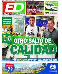 La portada de ESTADIO Deportivo del domingo