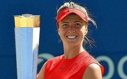 Svitolina, sonriente tras conquitar el torneo de Toronto.