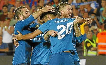 Asensio hizo el tercer gol de los madridistas en el Camp Nou.