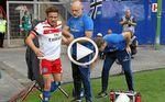 Nicolai Müller (Hamburgo) se rompe los ligamentos celebrando un gol