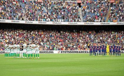 Momentos previos al partido.