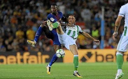 El Barça superó al Betis en intensidad.