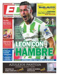La portada de ESTADIO Deportivo del sábado