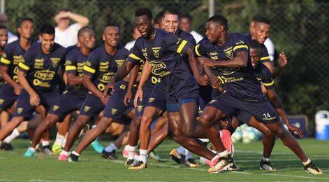 Ecuador se entrena con la ayuda de un dron para preparar el duelo contra Brasil