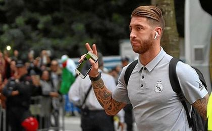 Ramos, a su llegada a Anoeta.