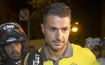 Vitolo, a su llegada a Sevilla este martes.