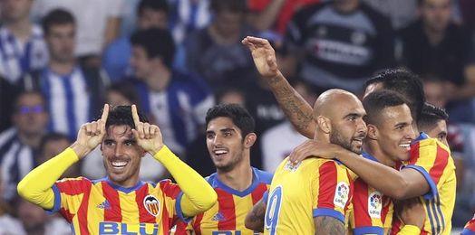 El Valencia ratifica en Anoeta su buen inicio de temporada