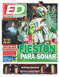 La portada del martes de ESTADIO Deportivo
