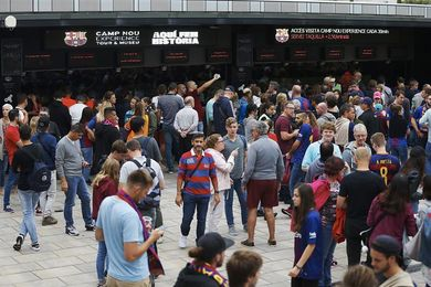 Sin goles en el Barcelona-Las Palmas tras los primeros 45 minutos en un Camp Nou sin público
