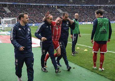 Ribery sufrió una rotura del ligamento exterior de la rodilla izquierda