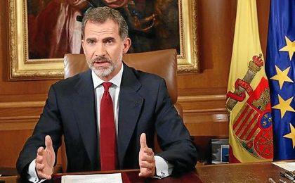 El rey, hablando sobre el problema en Cataluña.