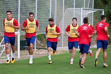 El Girona se entrena con tan solo dieciséis jugadores