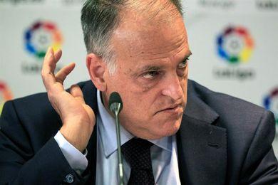 """Tebas: """"Por desgracia, veo posible una Liga sin el Barcelona y el Espanyol"""""""