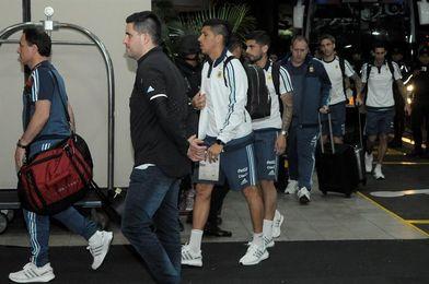 Argentina llega a Guayaquil y subirá a Quito horas antes de partido el martes