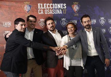 Lafón arropa su candidatura con Ricardo, López Vallejo y Aranzabal