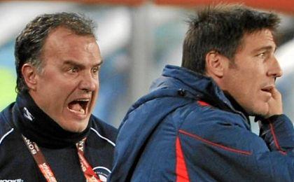 Berizzo fue segundo entrenador de Bielsa en Chile.