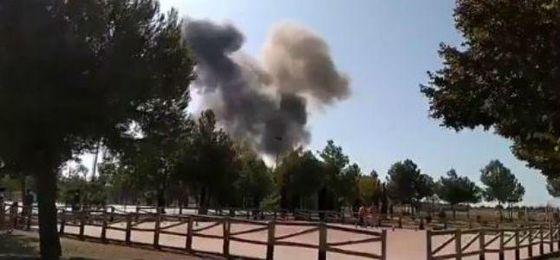Muere el piloto del Eurofighter que se ha estrellado en Albacete tras participar en el desfile del 12-O