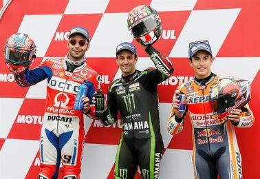Zarco logra su segunda mejor clasificación y Márquez falla la estrategia