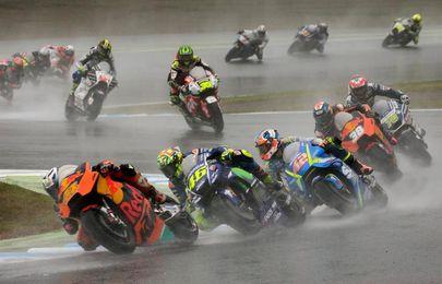 """Rossi explica tras la caída le duele """"todo"""", pero que """"la pierna esta bien"""""""