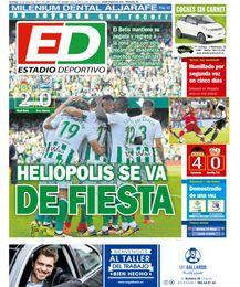 La portada de ESTADIO Deportivo de este domingo