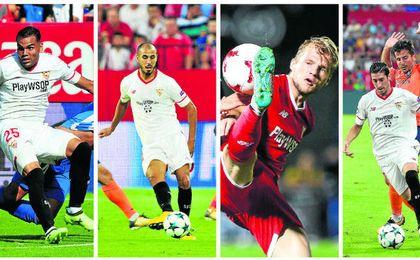 Los argentinos Gabriel Mercado y Guido Pizarro, junto al alemán Geis y el internacional español Sergio Escudero son las cuatro alternativas que baraja Berizzo.