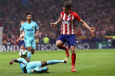 Filipe, única novedad en el once del Atlético respecto al 0-1 en Vigo