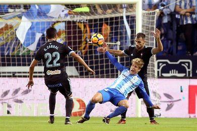 2-1. Adrián y Recio dan al Málaga su primera victoria y oxígeno a Michel