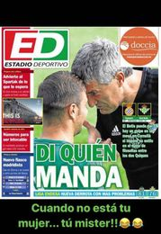 """Joaquín y la portada de ED: """"Cuando no está tu mujer..."""""""